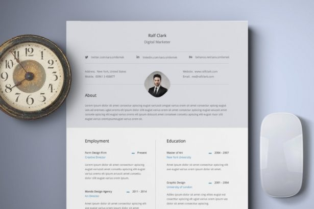 33. Free Classy Resume Template