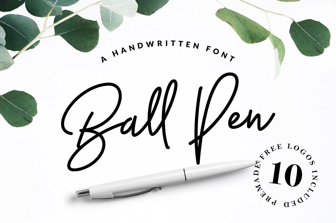 34. Ball Pen Handwritten Font