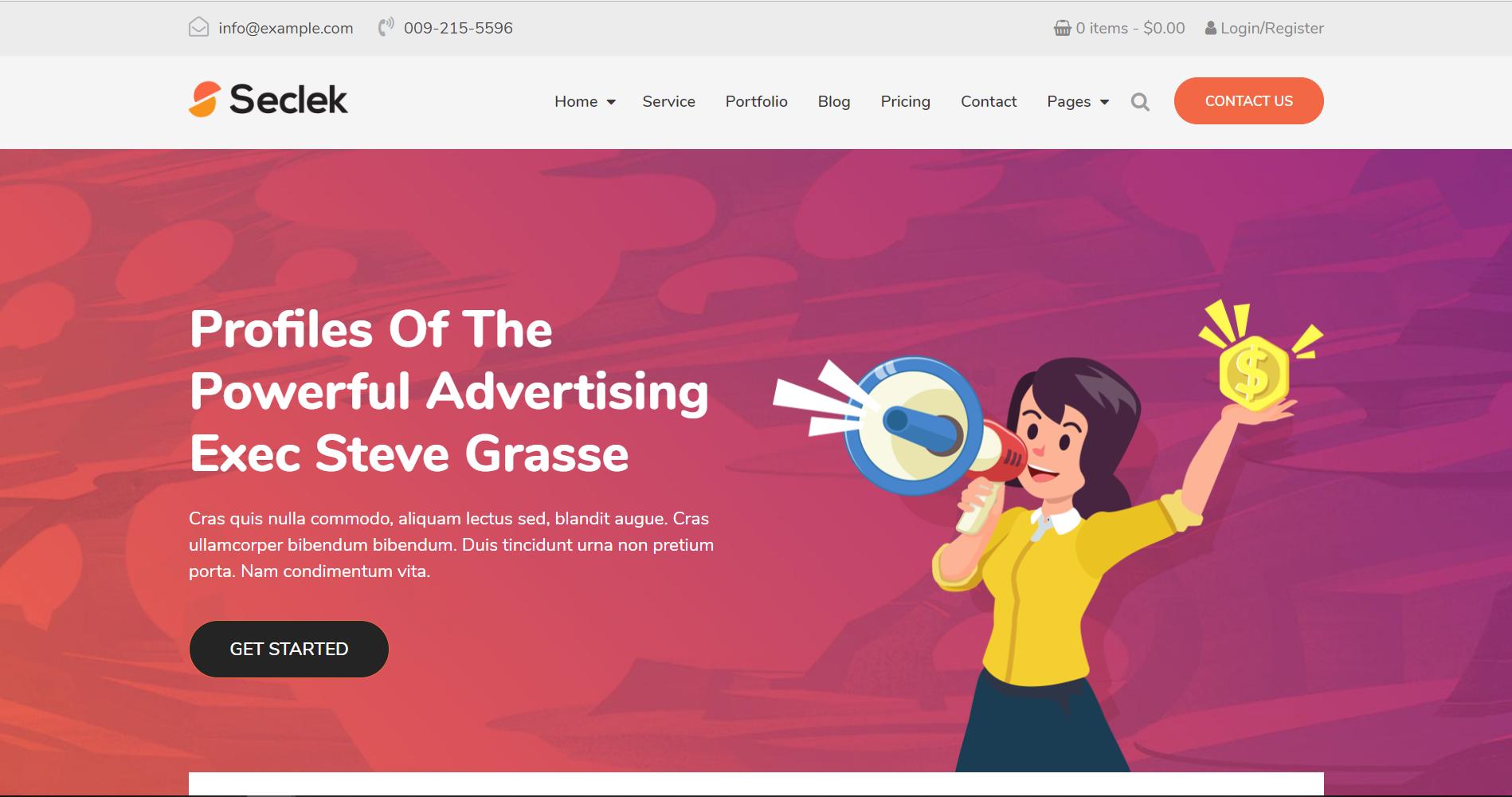 34. Seclek - Multipurpose WordPress Theme