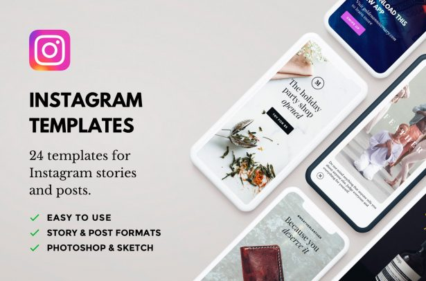 35. Lush Instagram Templates (PSD, Sketch)