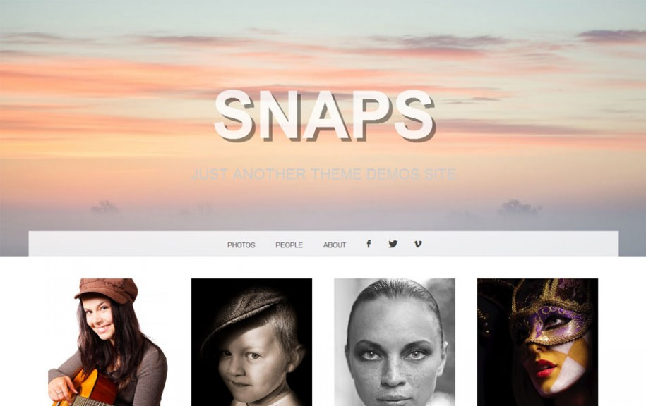 36 - Snaps Free Portfolio WordPress Theme