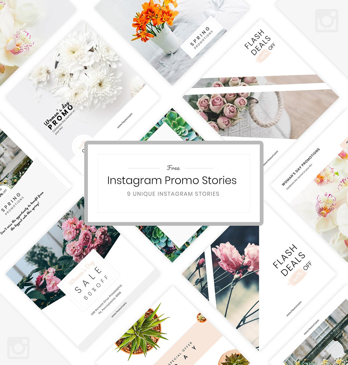 36. Free Instagram Stories Templates PSD