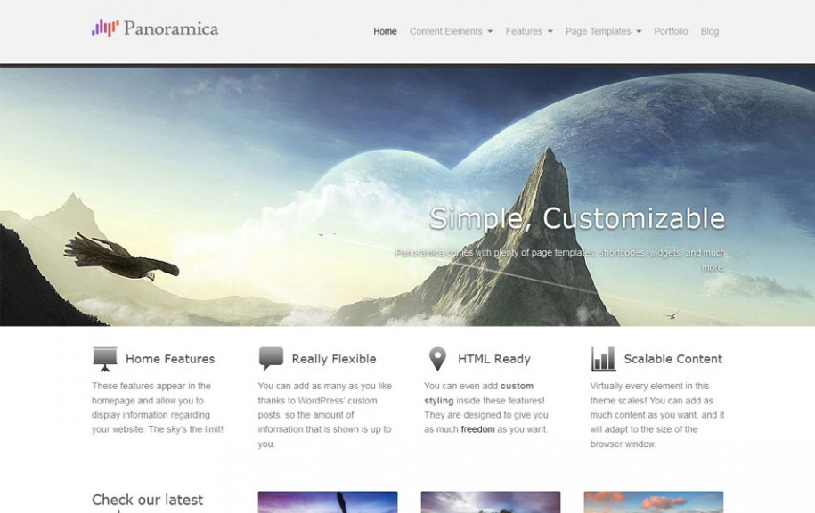 37 - Panoramica Free Portfolio WordPress Theme