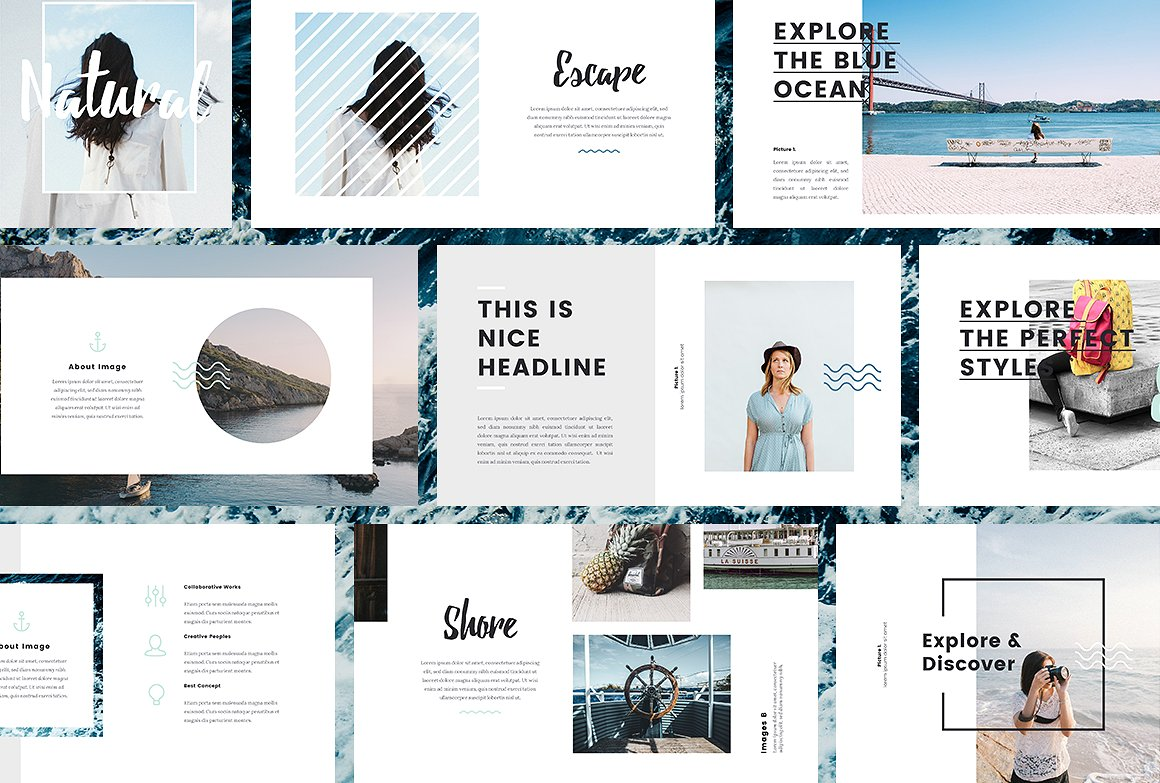 37. Nautical - Keynote Template