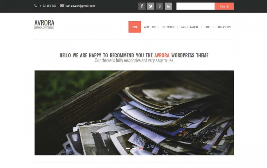 38 - Avrora Free WordPress Theme