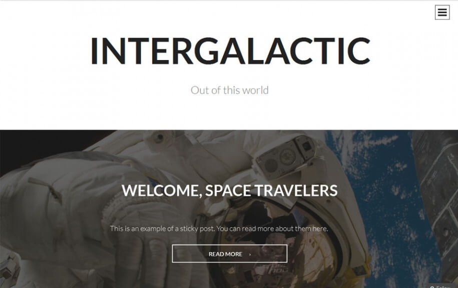 38 - Intergalactic Free Photography WordPress Theme