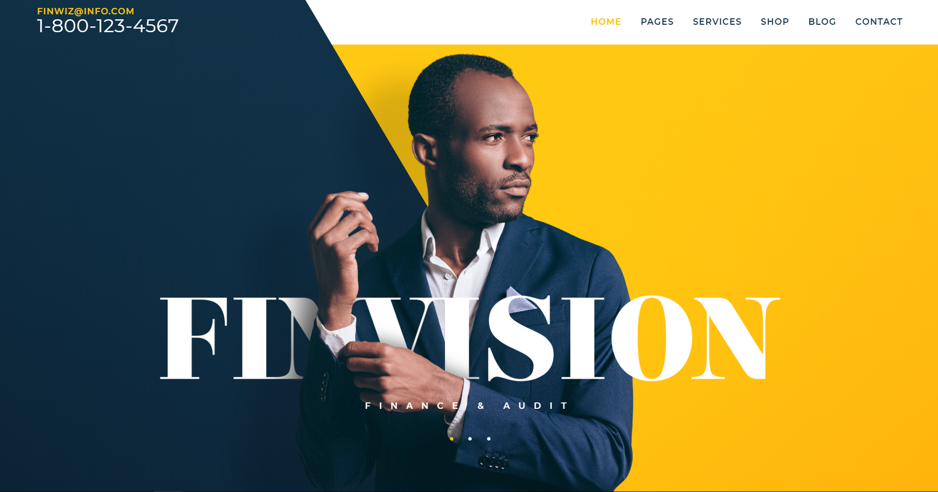 39. Finvision - Financial Audit and Consulting WordPress Theme