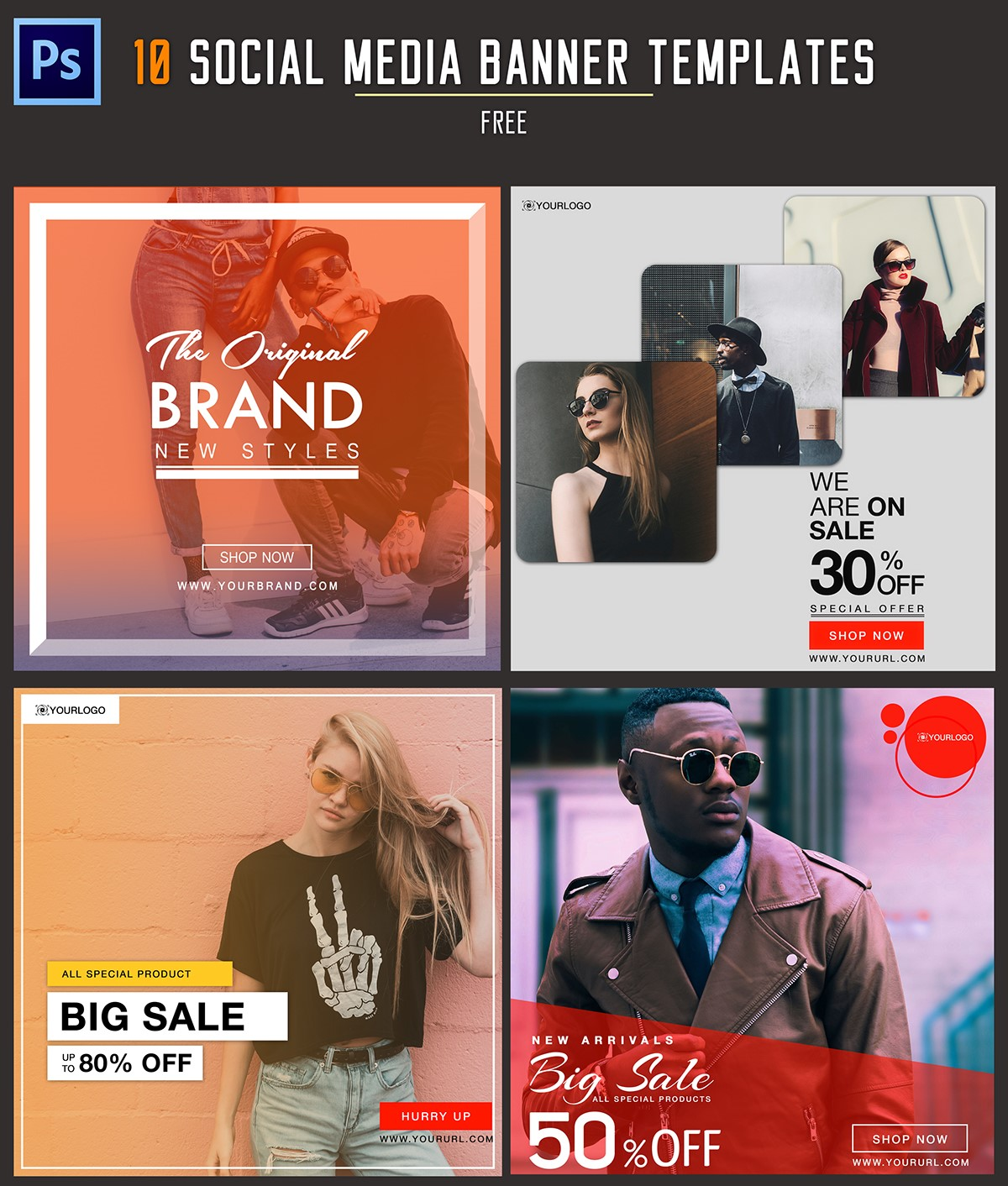 39. Free Instagram Banners Templates PSD