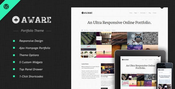 4 - Aware - Responsive WordPress Portfolio Theme