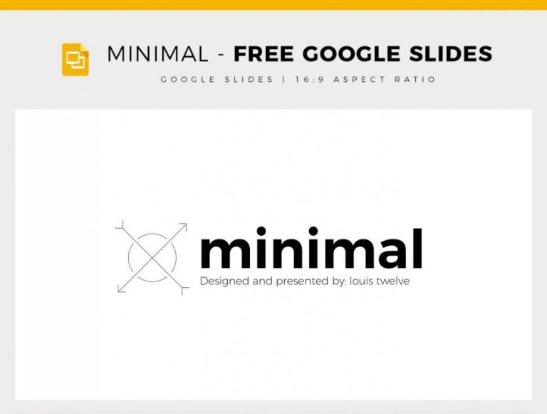 4 - Minimal - Free Google Slides Template by Louis Twelve