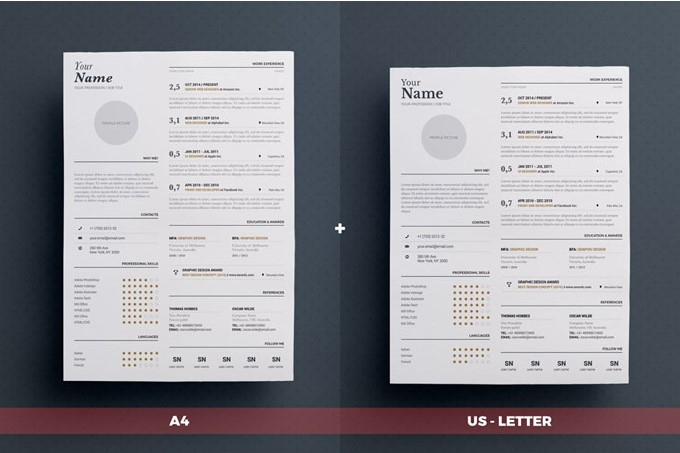4 - Typgraphic Resume Template