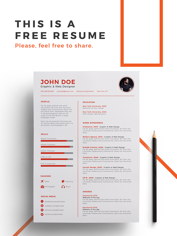 4. Free Resume Template