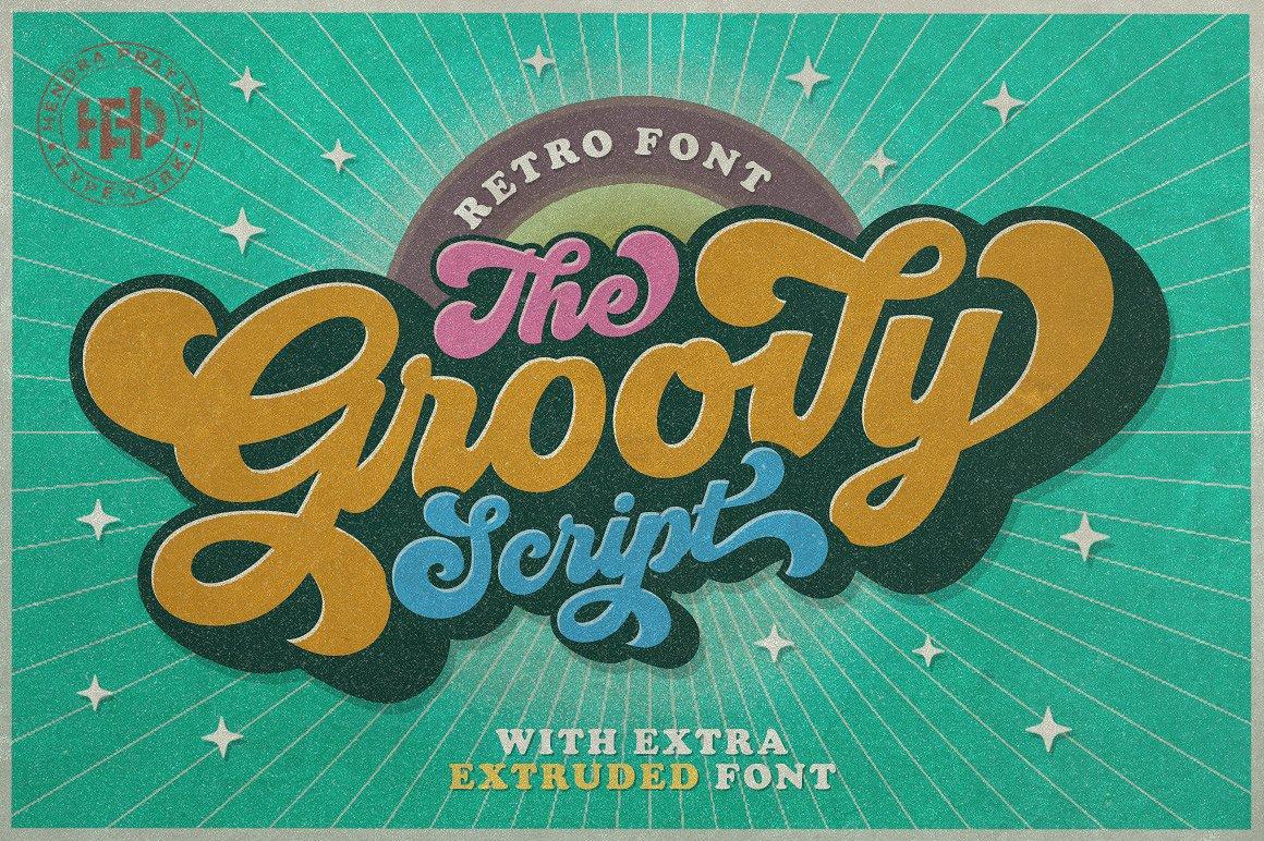4. Groovy - Retro Font