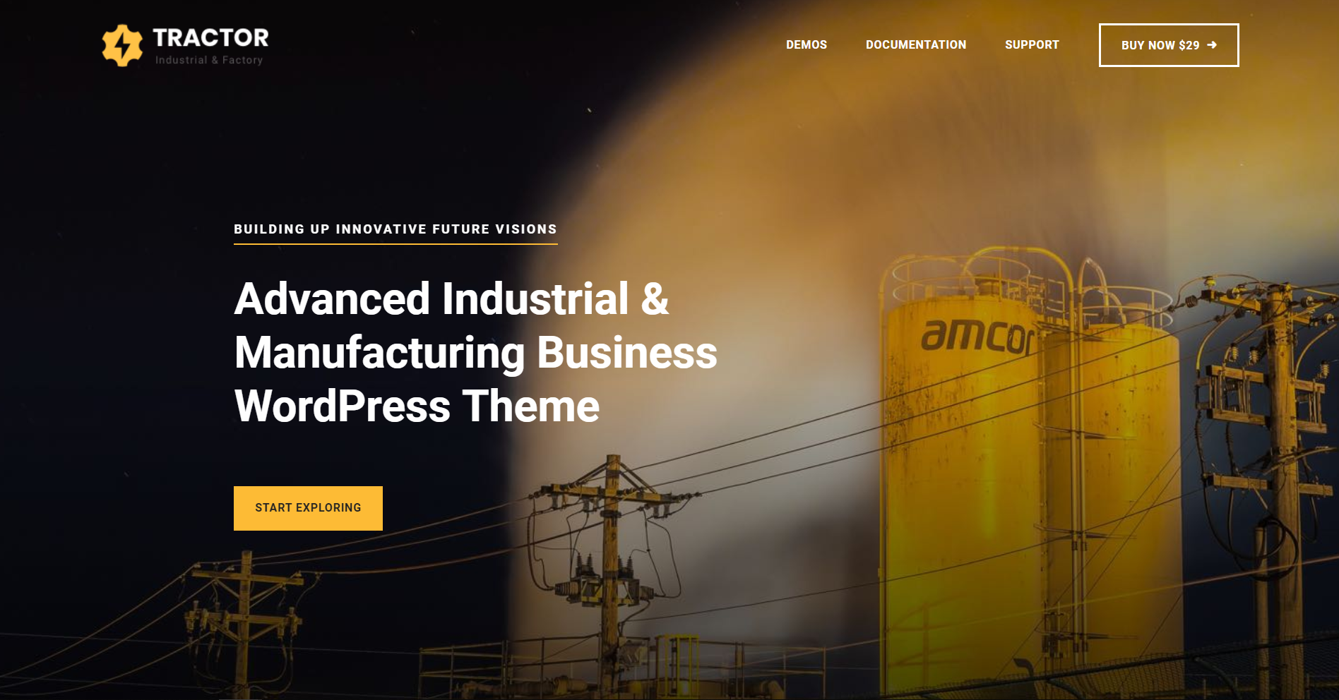 4. Tractor - Industrial Manufacturing WordPress