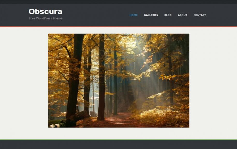 40 - Obscura Free Photography WordPress Theme