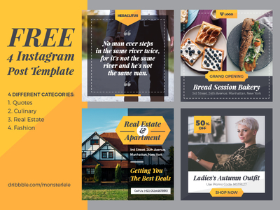 41. Free Instagram Post Template PSD