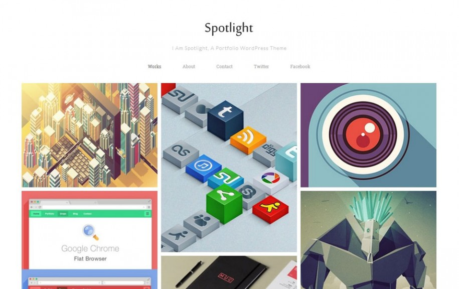 42 - Spotlight Free Portfolio WordPress Theme