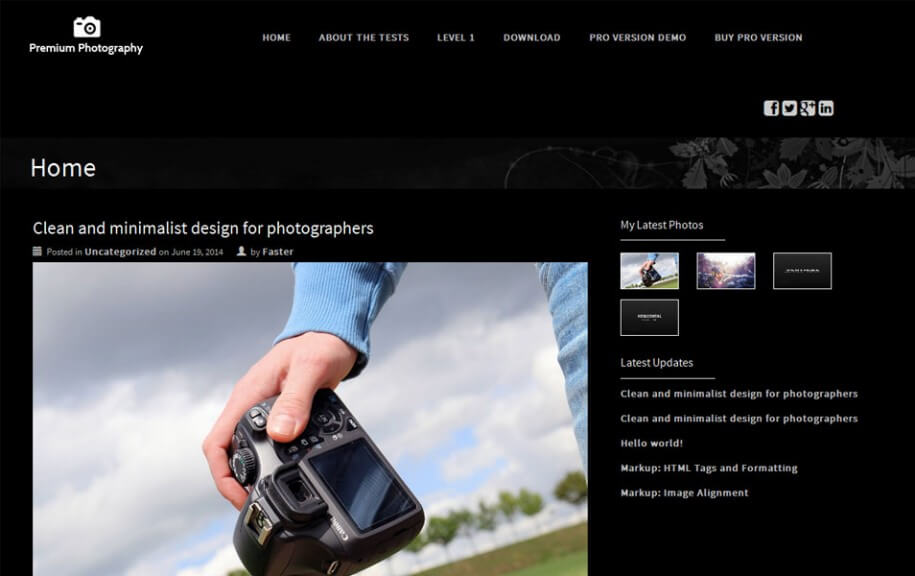 44 - Premium Photography Free Photography WordPress Theme