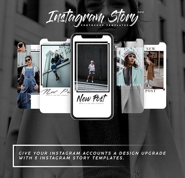 45. Five Instagram Stories Templates 2018