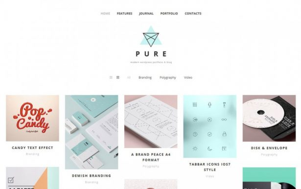 46 - Pure Free Portfolio WordPress Theme
