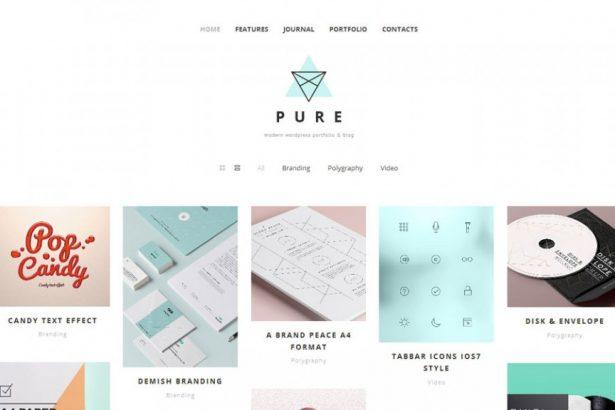 46 - Pure Free Portfolio WordPress Theme