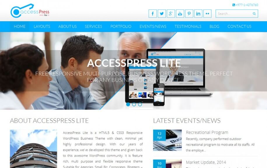 47 - Accesspress Lite Free Photography WordPress Theme