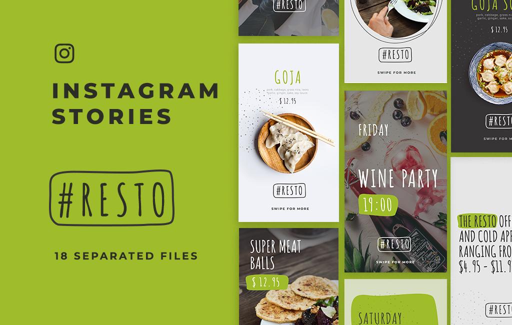 48. Resto Instagram Stories Template