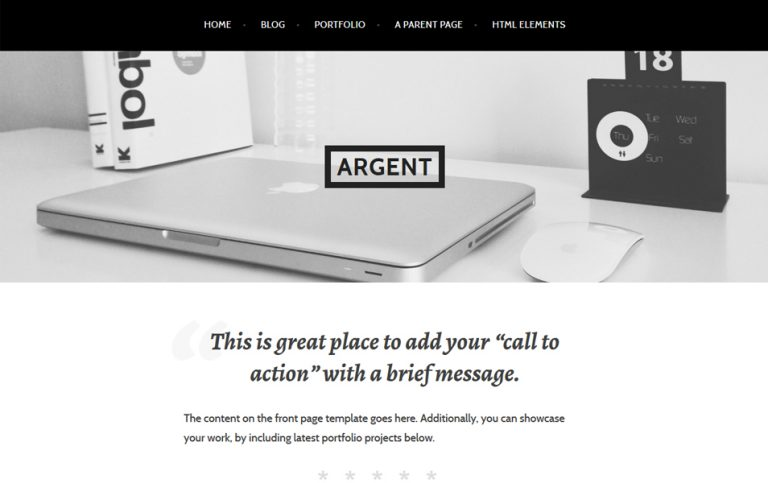 5 - Argent Responsive WordPress Theme