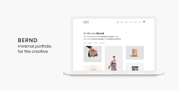 5 - Bernd - Minimal WordPress Portfolio Theme