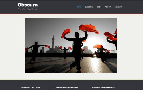 50. Obscura Free Portfolio WordPress Theme