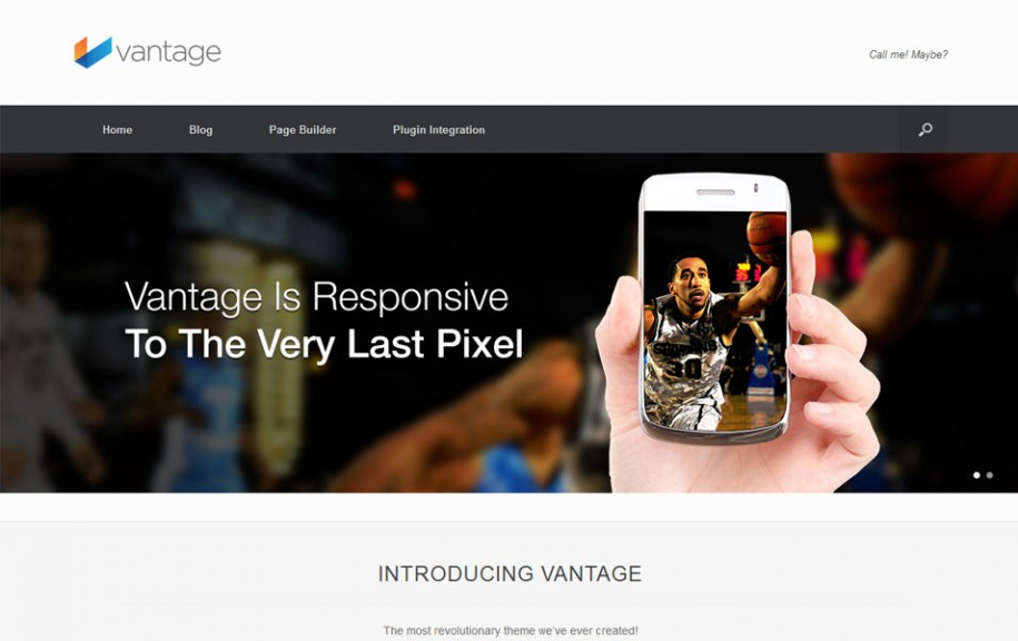 57 - Vantage Free Portfolio WordPress Theme