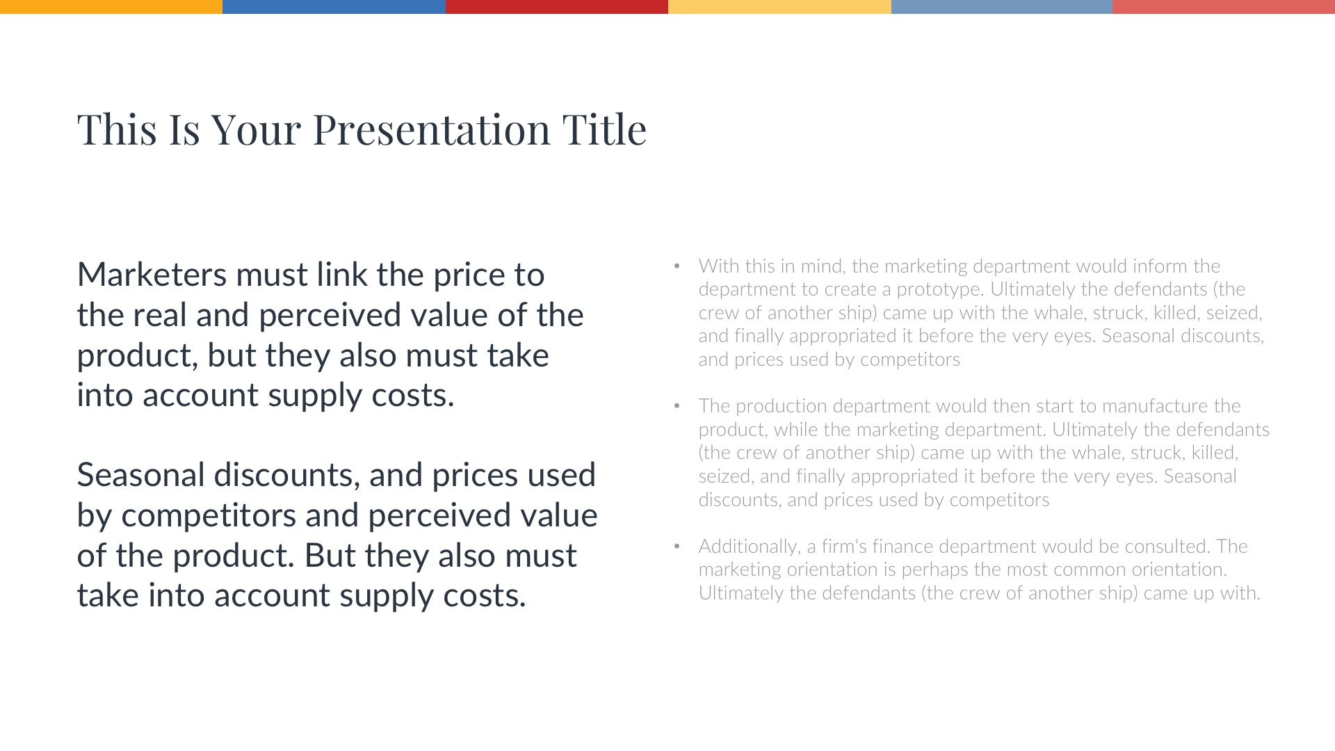 Hill Free Presentation Template