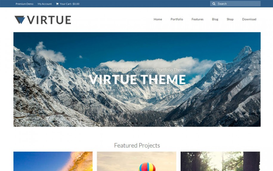 65 - Virtue Free Portfolio WordPress Theme