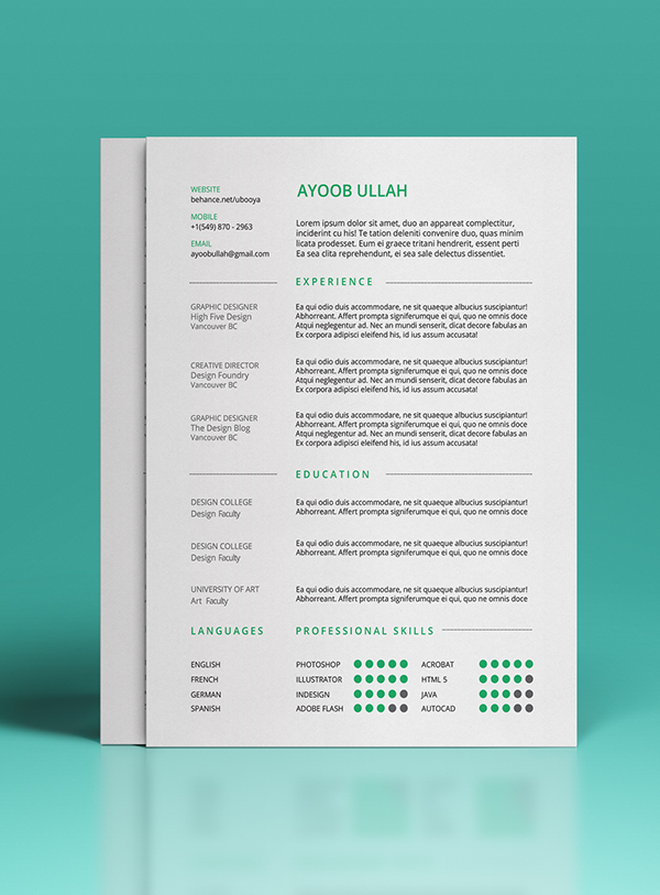7. Free Resume Template