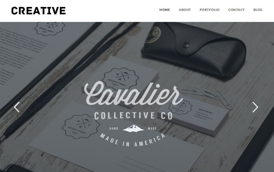 74 - Creative Free Portfolio WordPress Theme