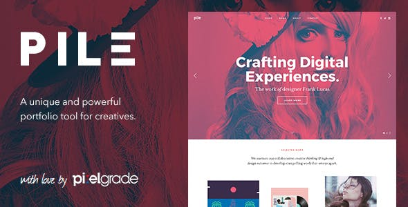 8 - PILE - An Unconventinal WordPress Portfolio Theme