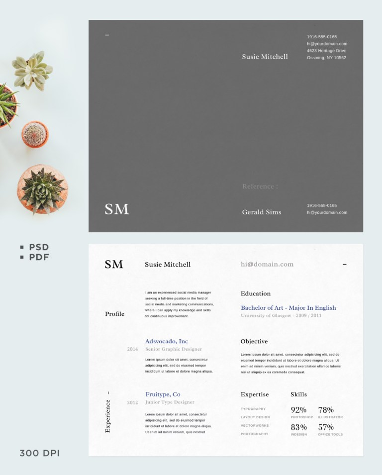 8. Free Resume Template Vol 02