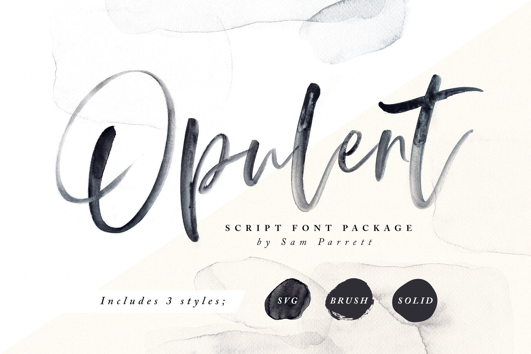 8. Opulent Font + SVG