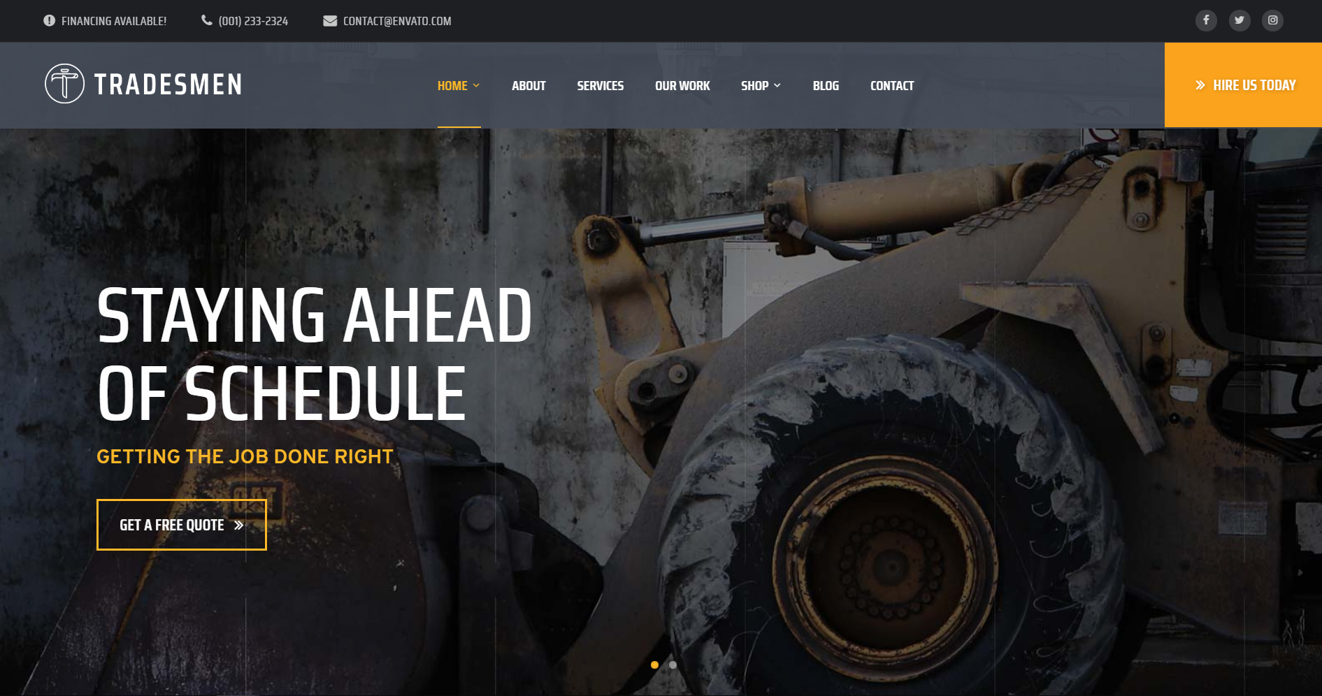 8. Tradesmen - Construction WordPress Theme