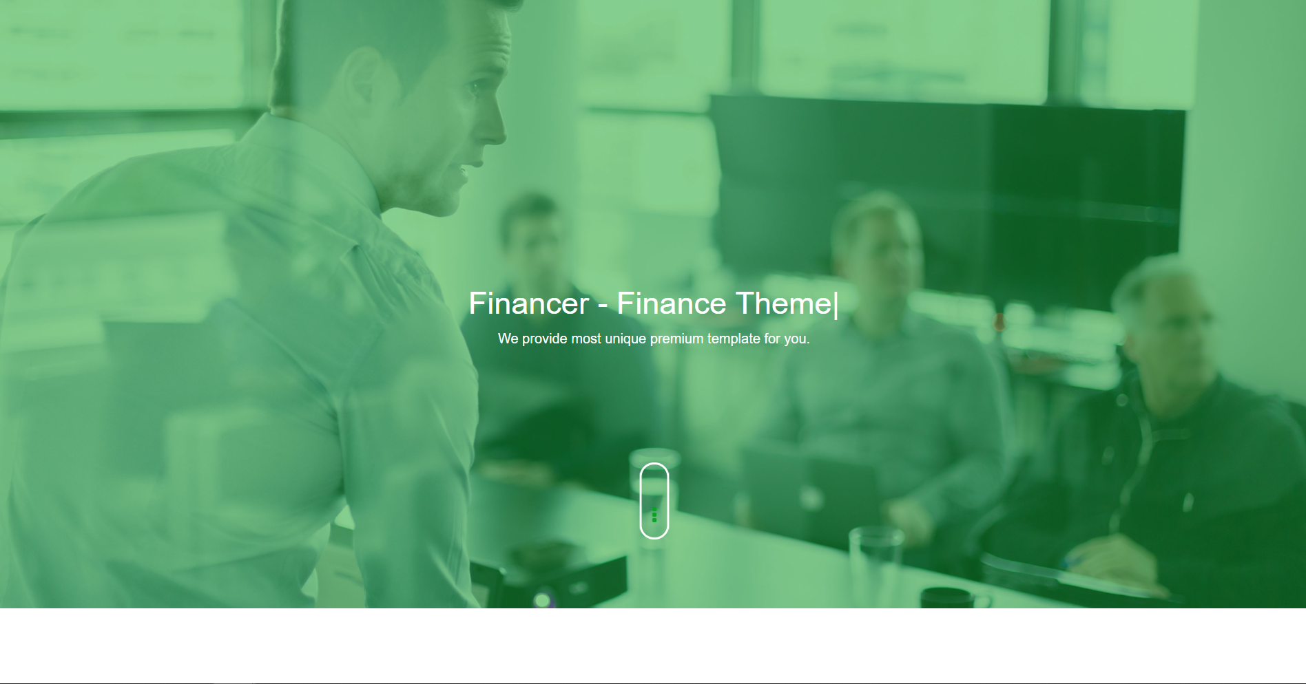 9. Financer - Consulting Finance & Insurance WordPress Theme