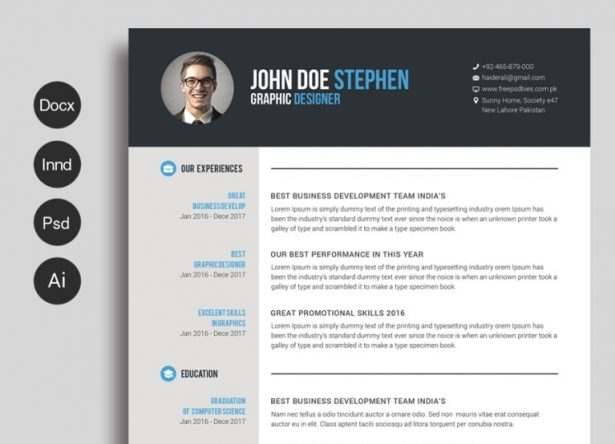 resume template archives graphicpanda