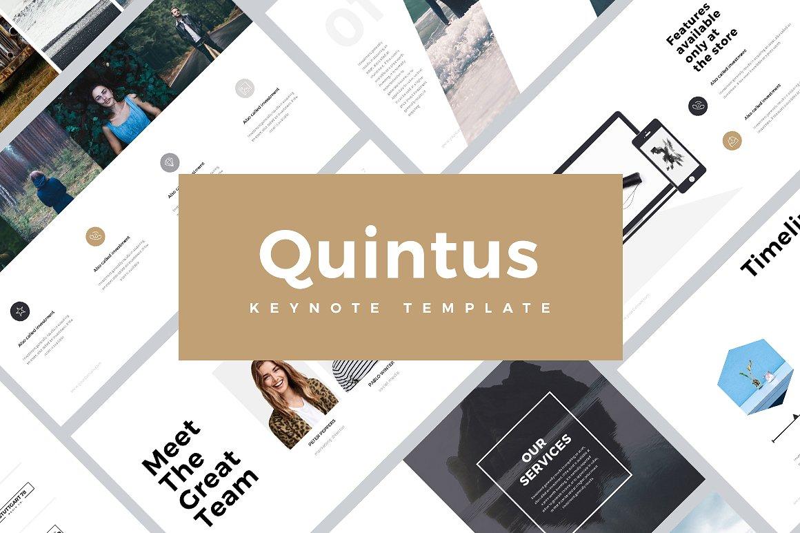 Quintus Minimal Keynote Template