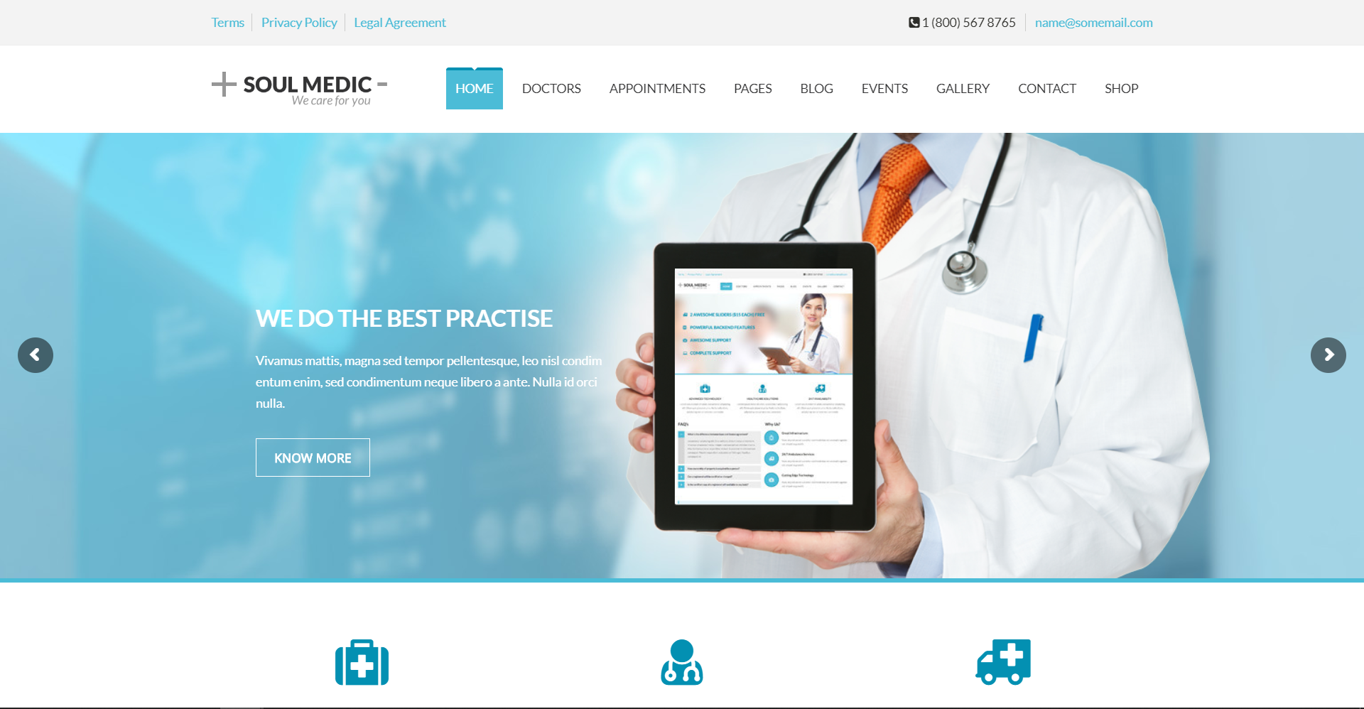 12. SoulMedic Health Medical & Health Care Theme