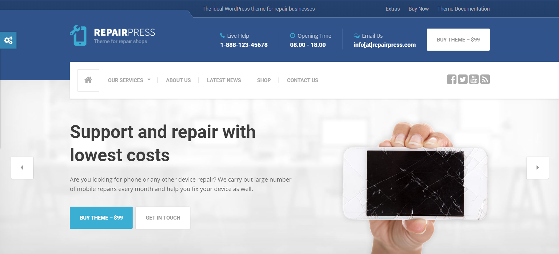 17. RepairPress - GSM, Phone Repair Shop WP