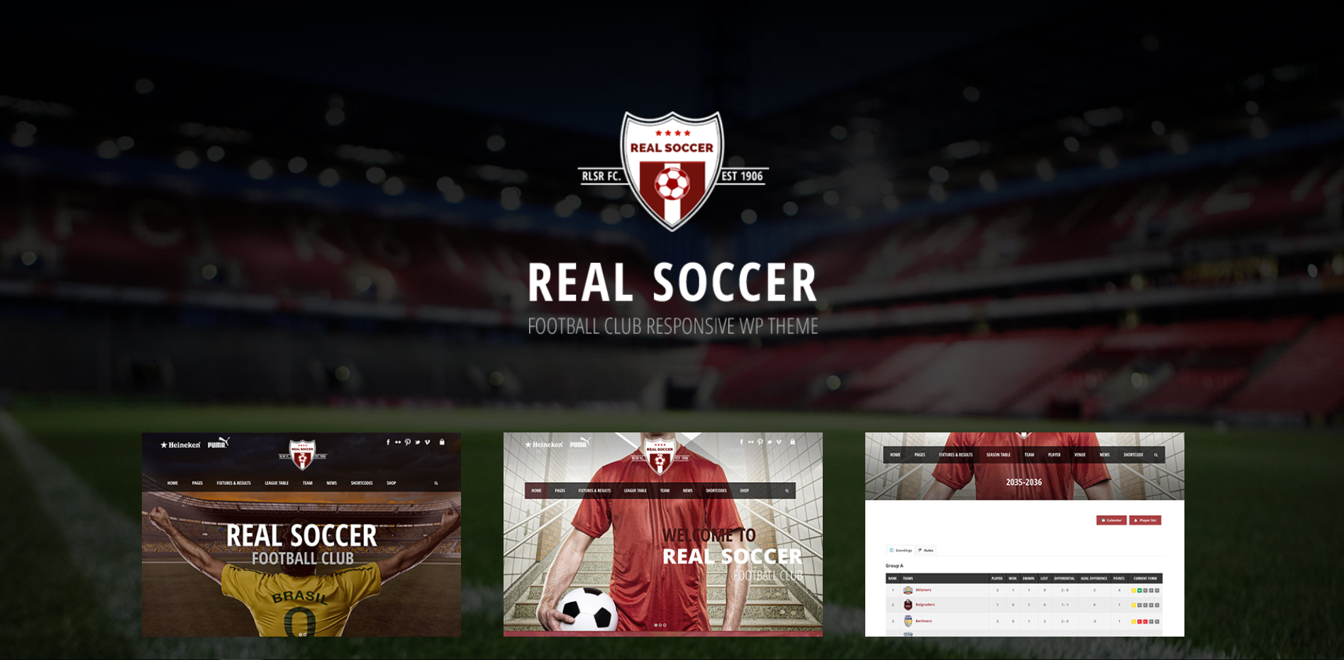 2. Real Soccer - Sport Clubs Responsive WP Theme