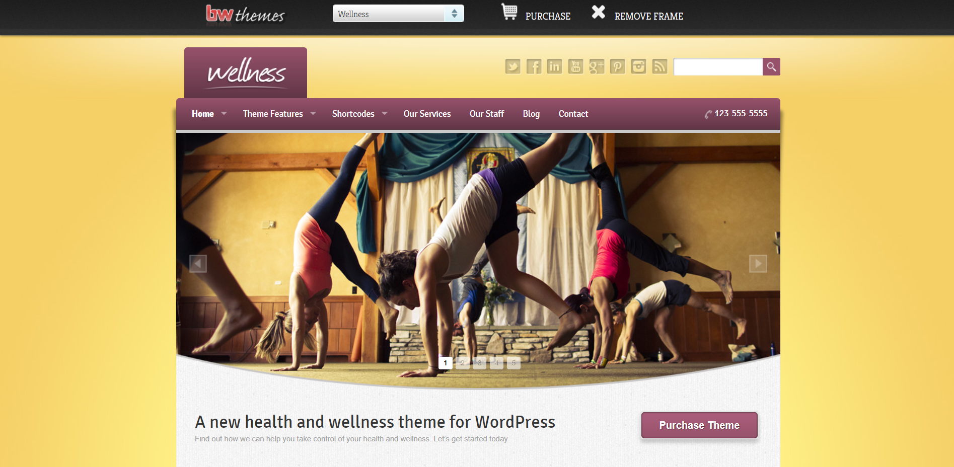 20. Wellness - A Health & Wellness WordPress Theme