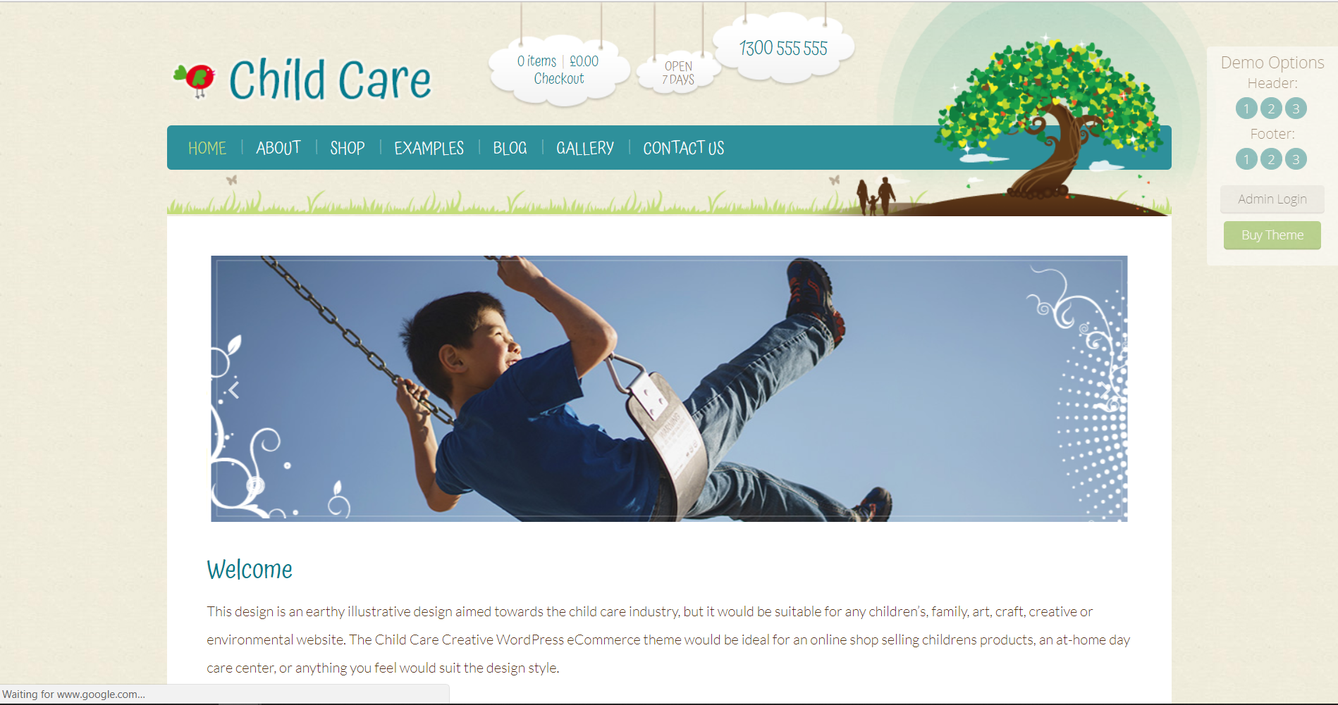 24. Child Care Creative - WordPress Shop Theme