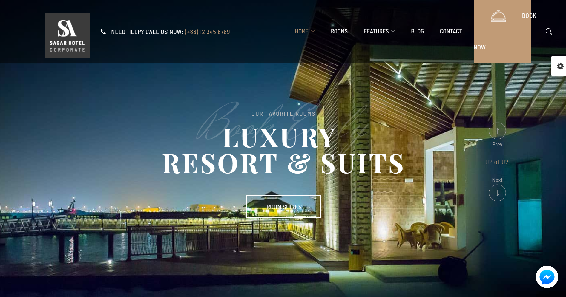 29. Hotel WordPress Theme Sailing