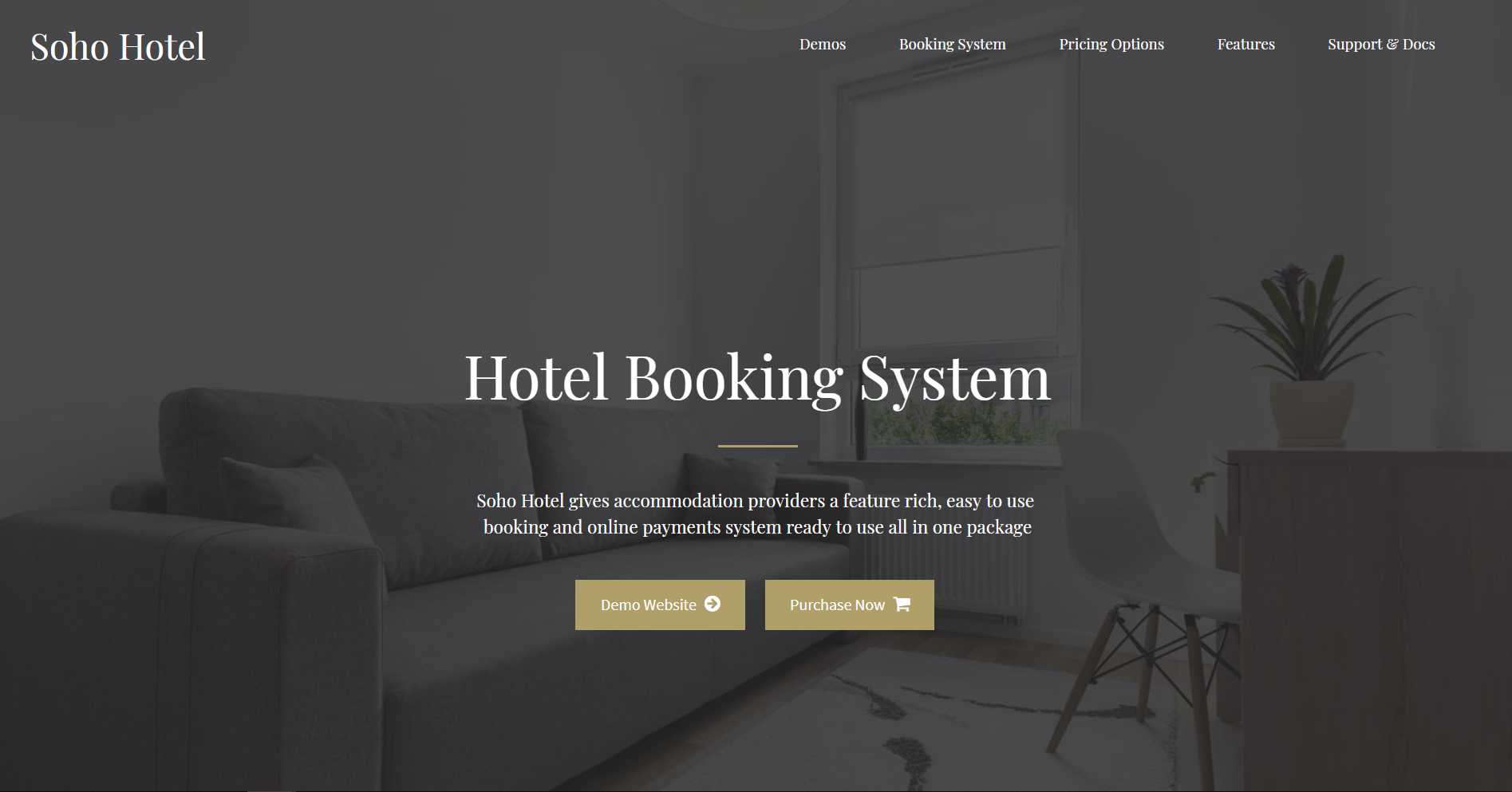 31. Soho Hotel Booking - Hotel WordPress Theme