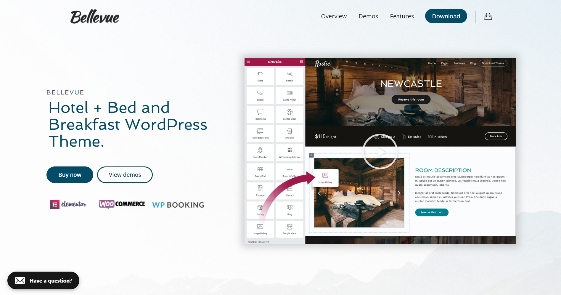 32. Hotel + Bed and Breakfast Booking Calendar Theme Bellevue